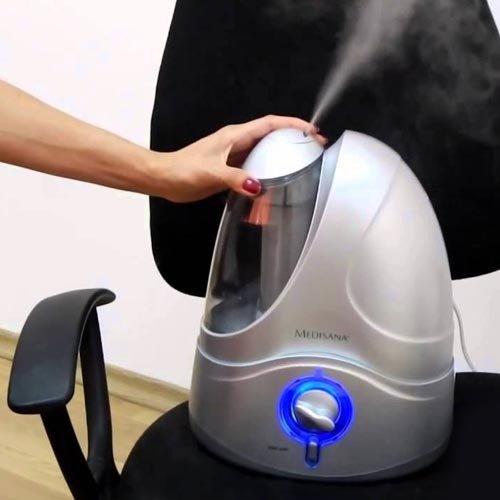 Ультразвуковой увлажнитель воздуха Medisana UHW регулятор интенсивности парообразования и автоматическое отключение при отсутствии воды